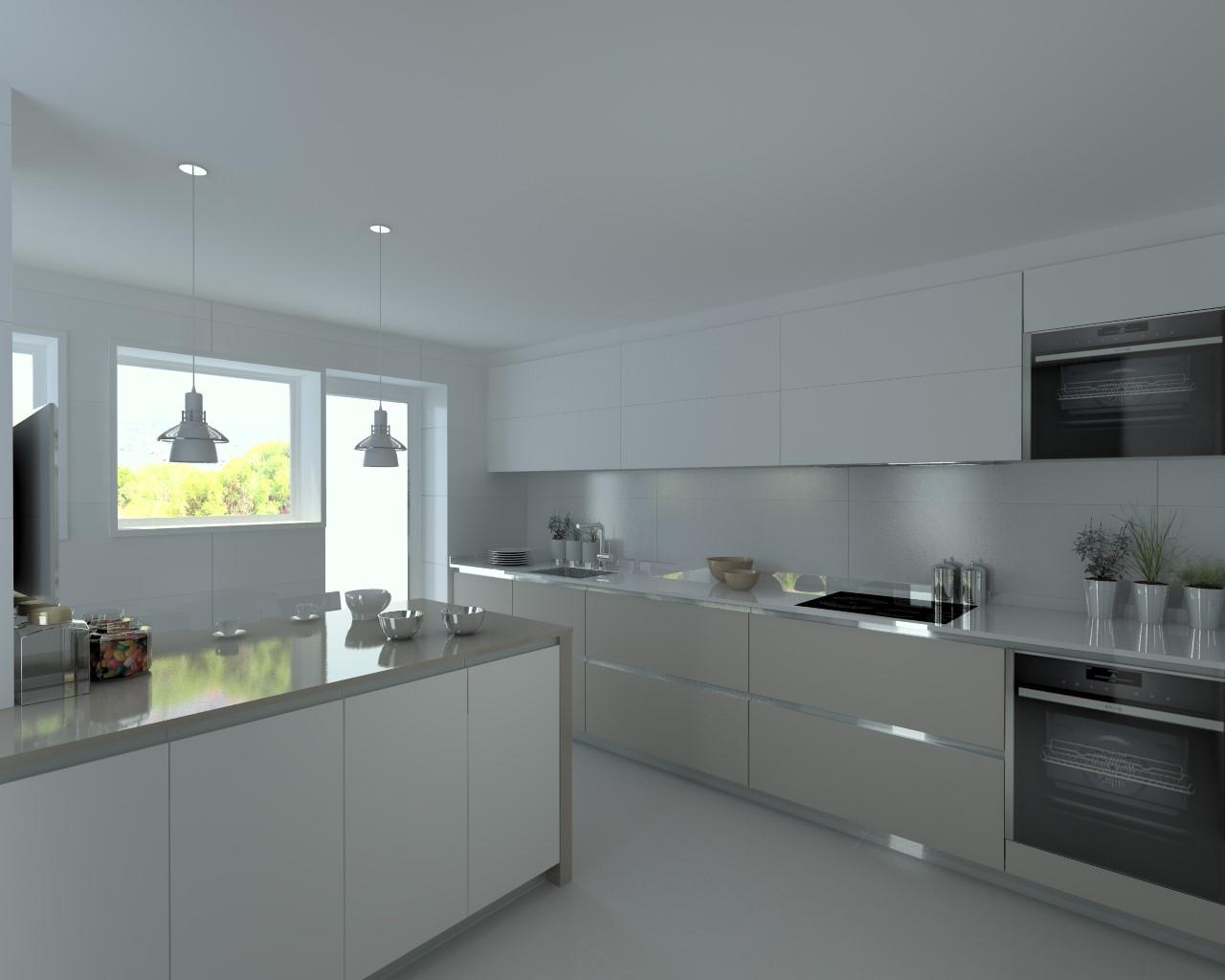 Proyectos de cocinas docrys cocinas for Color credence cocina blanca