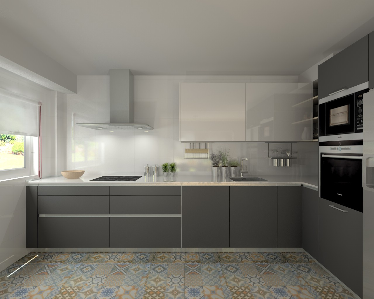 Madrid cocina santos modelo line e gris y line l for Muebles de cocina gris
