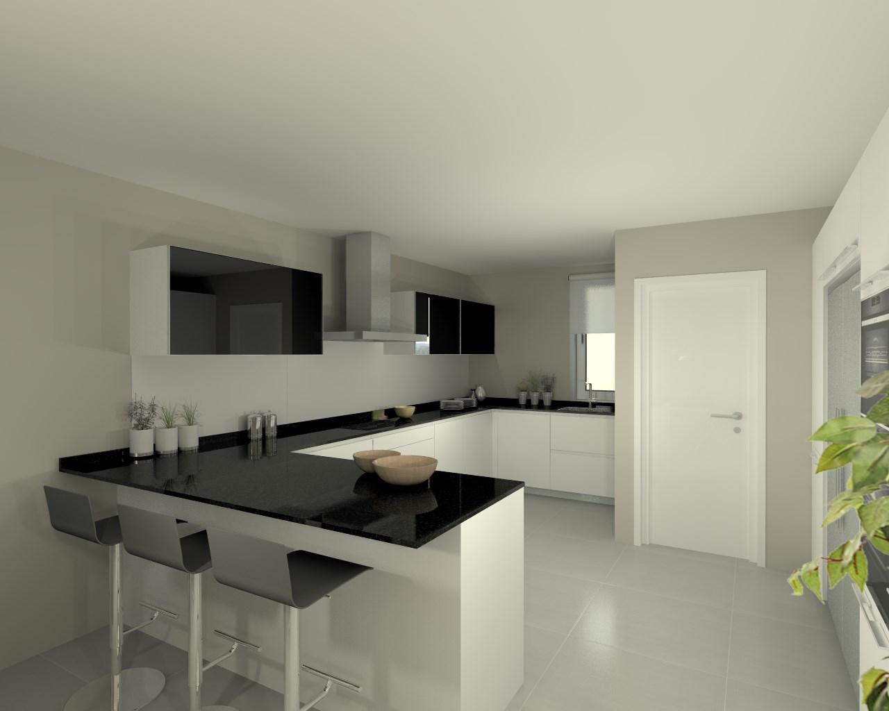 Proyectos de cocinas docrys cocinas for Granito negro brillante