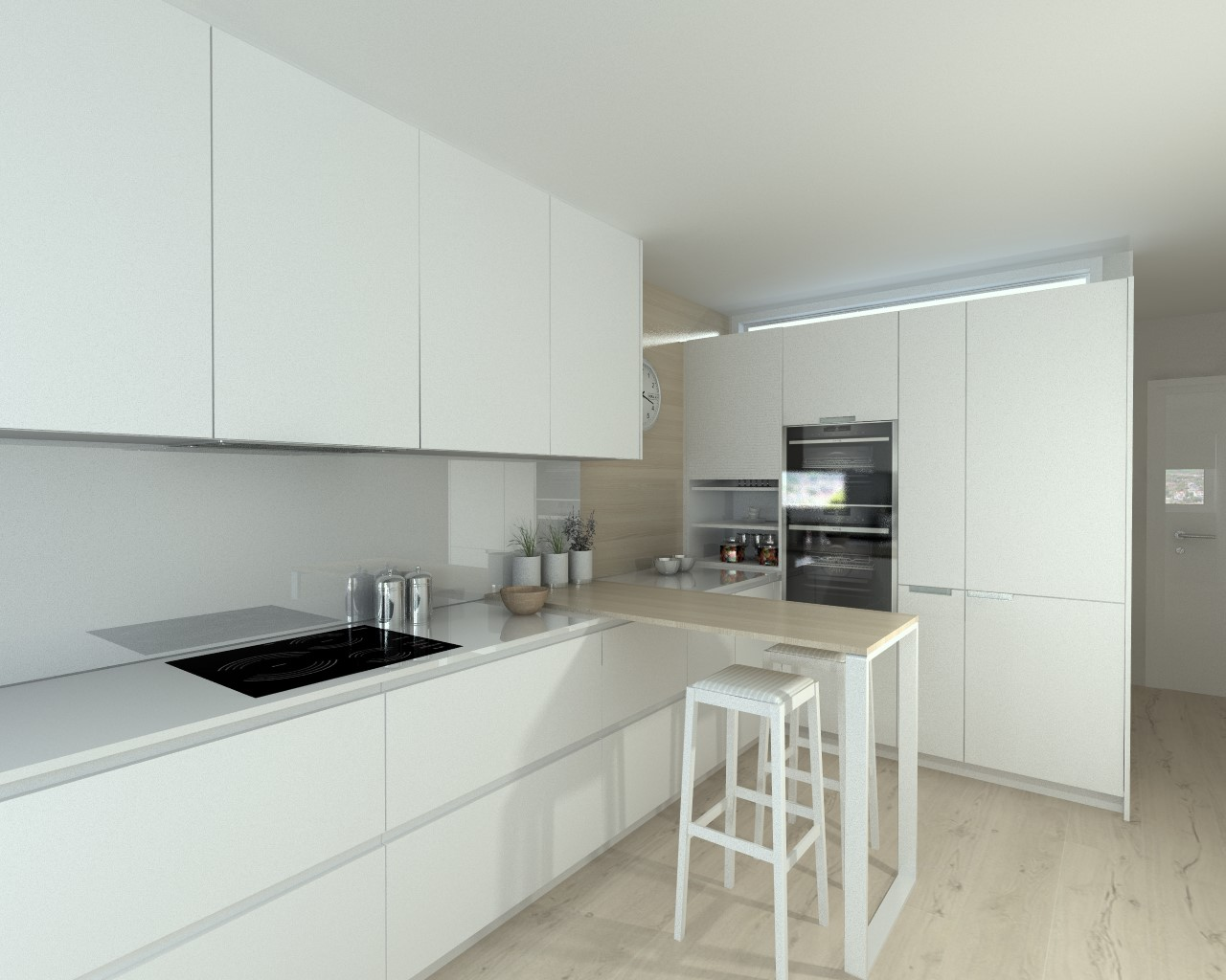 Aravaca cocina santos modelo line laminado blanco seda - Docrys cocinas ...