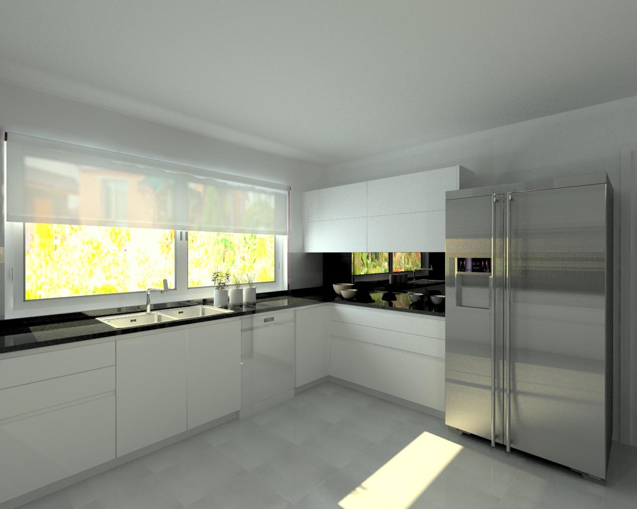 Cocinas blancas con encimera de granito cocina cocina for Cuanto cuesta una encimera de cocina