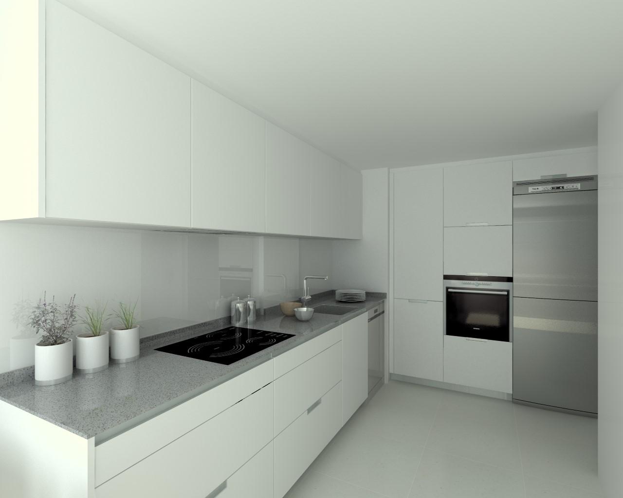 Cocina Mueble Gris Encimera Blanca: Negro blanco y gris una mezcla ...