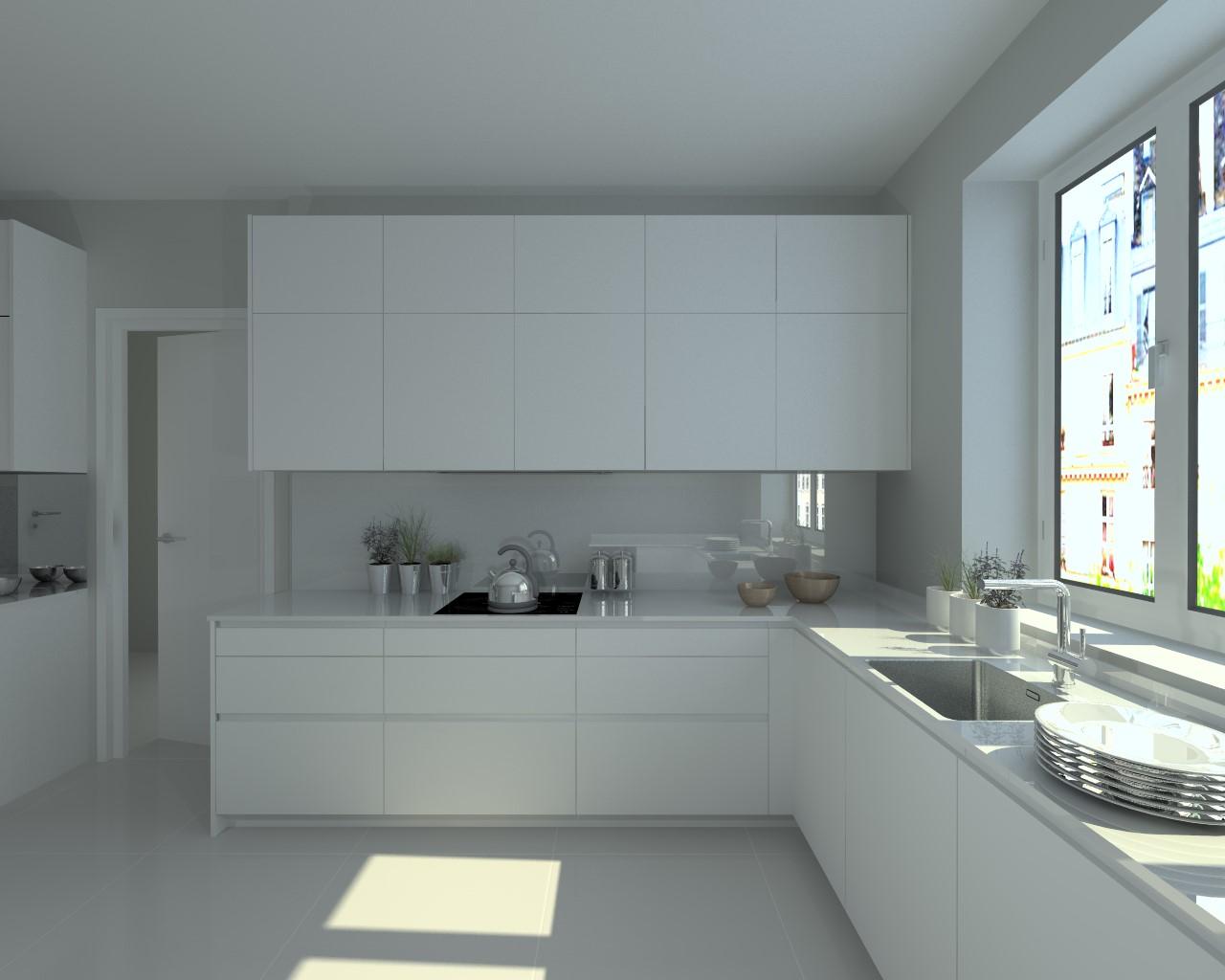 Aravaca cocina santos modelo line e blanco encimera for Modelo de cocina integrado
