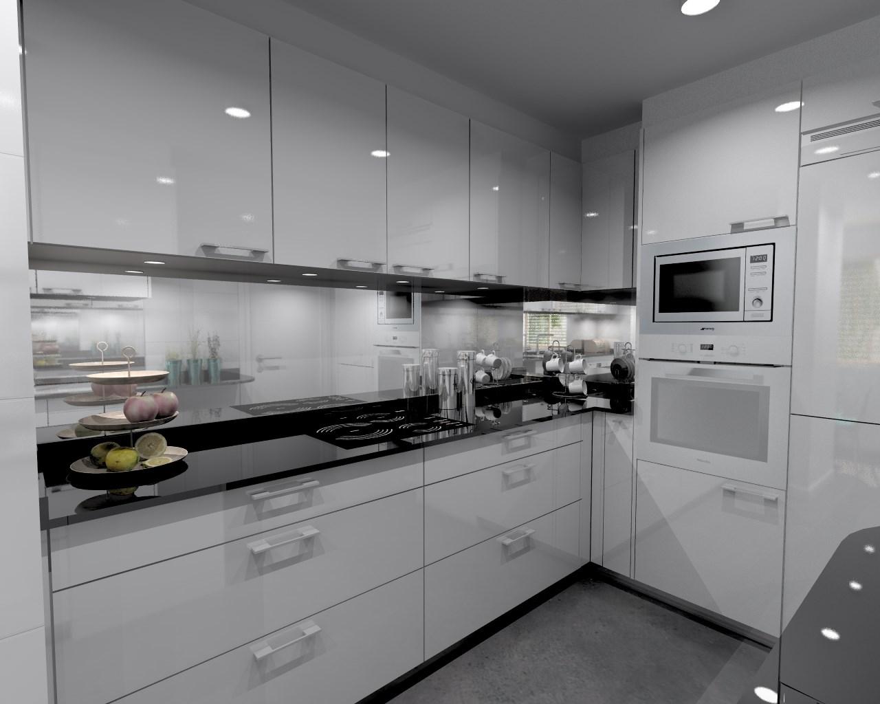 Aravaca cocina santos modelo plano laminado blanco for Encimera cocina marmol o granito