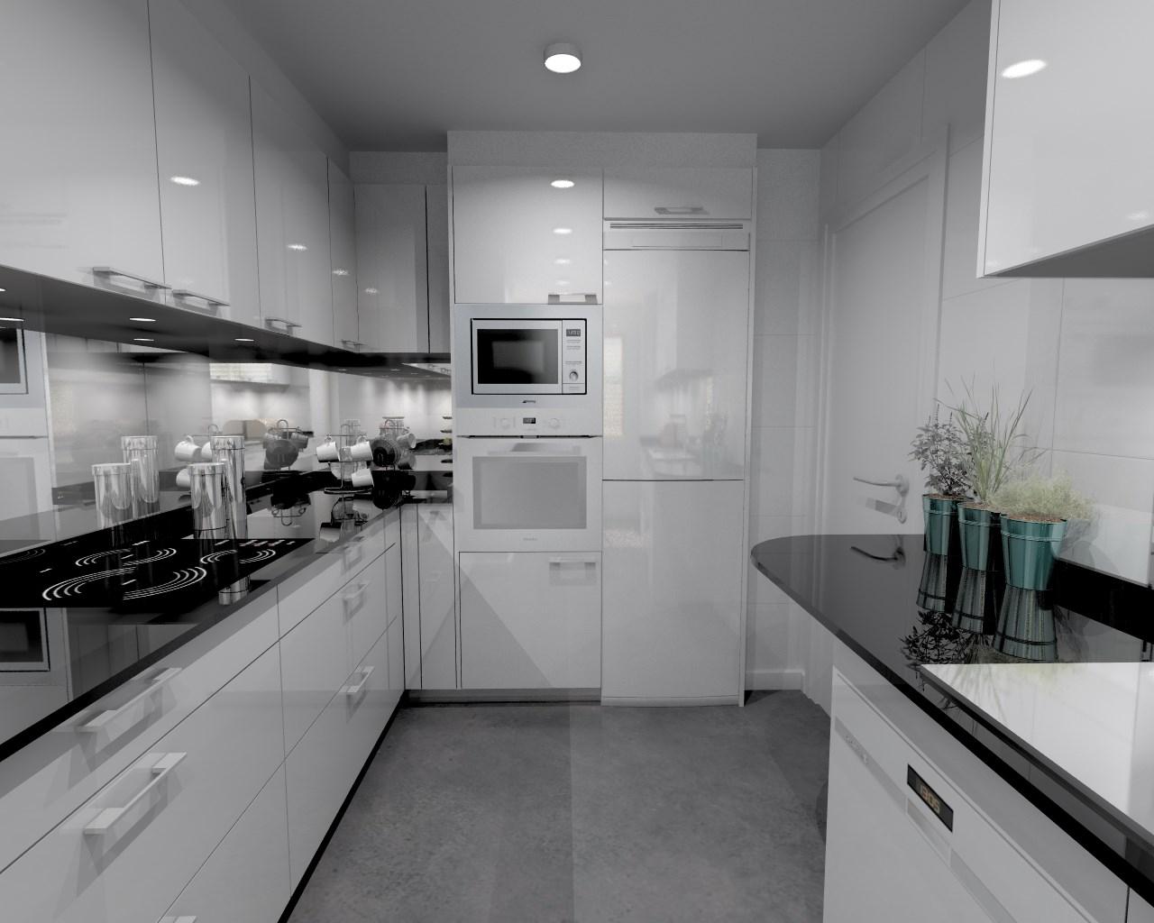 Aravaca cocina santos modelo plano laminado blanco for Mostrar cocinas modernas