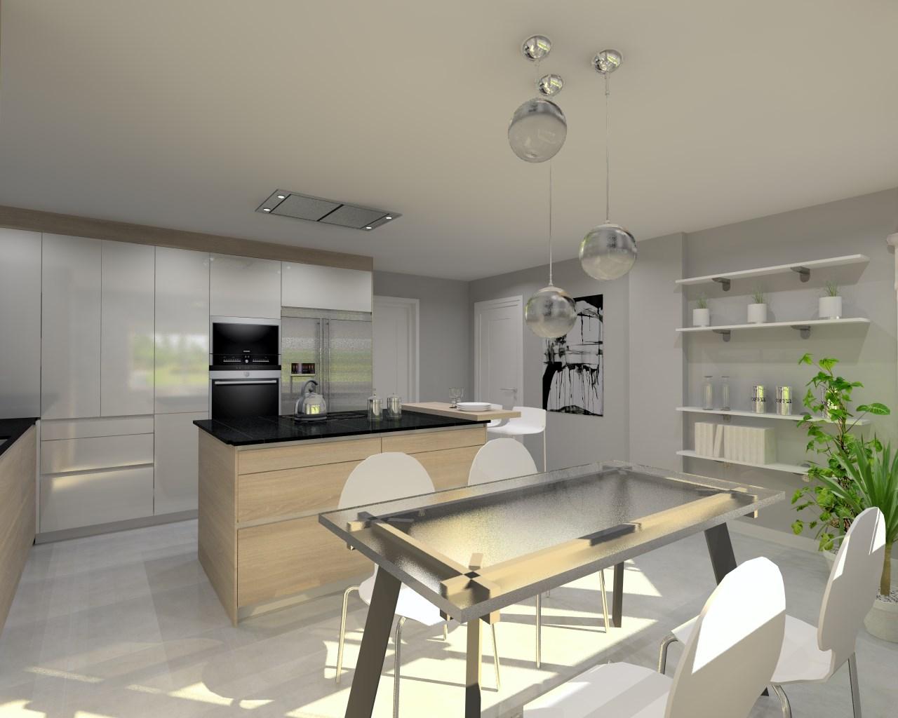 Cocina Santos Modelo Line E13 Estratificado Brillo Laminado  # Muebles Bajos De Cocina