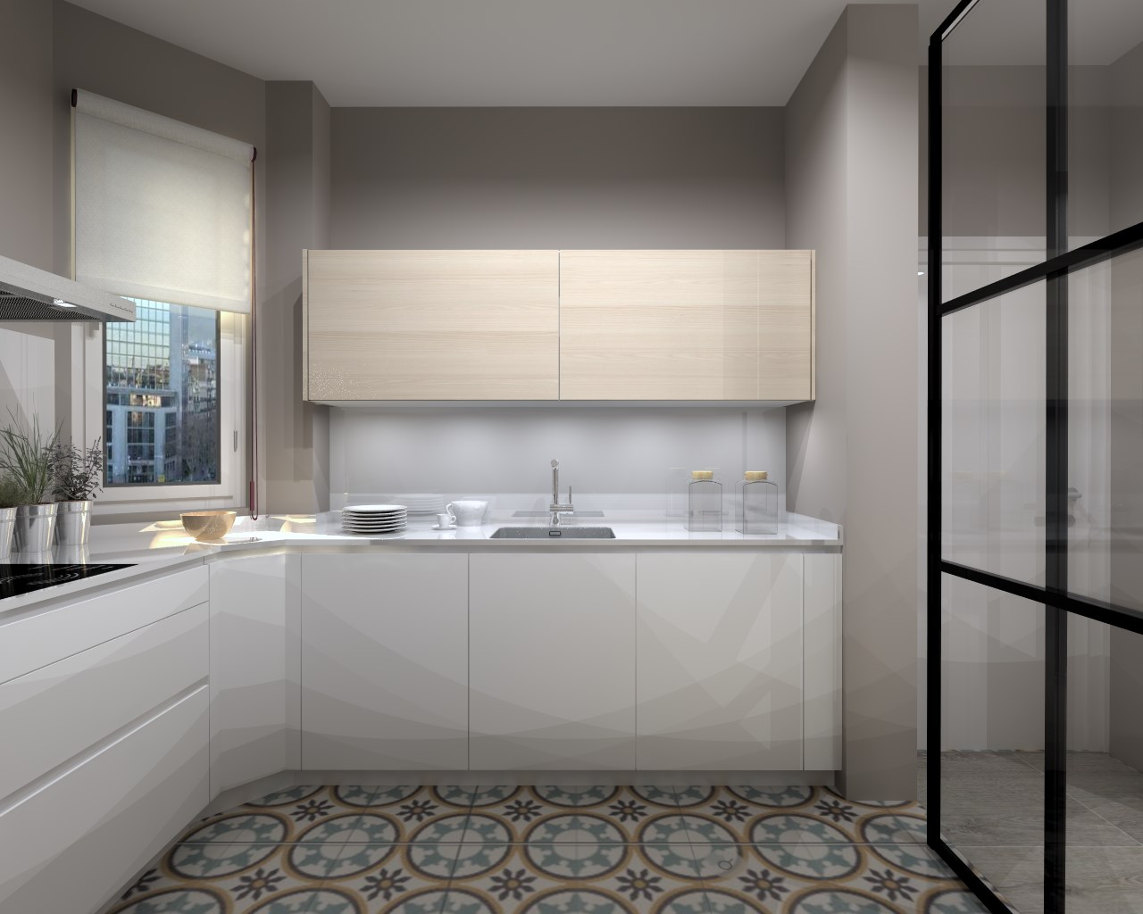 Aravaca cocina santos modelo line estratificado blanco for Cocinas modelos