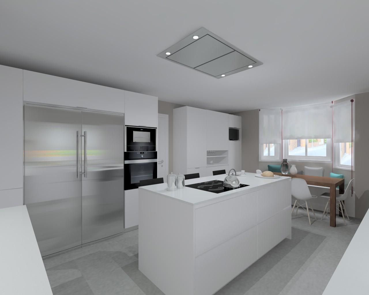 Proyectos de cocinas docrys cocinas - Cocina blanca mate ...
