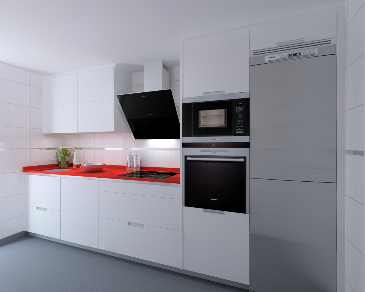 Madrid cocina santos modelo minos e encimera compac for Encimera auxiliar cocina