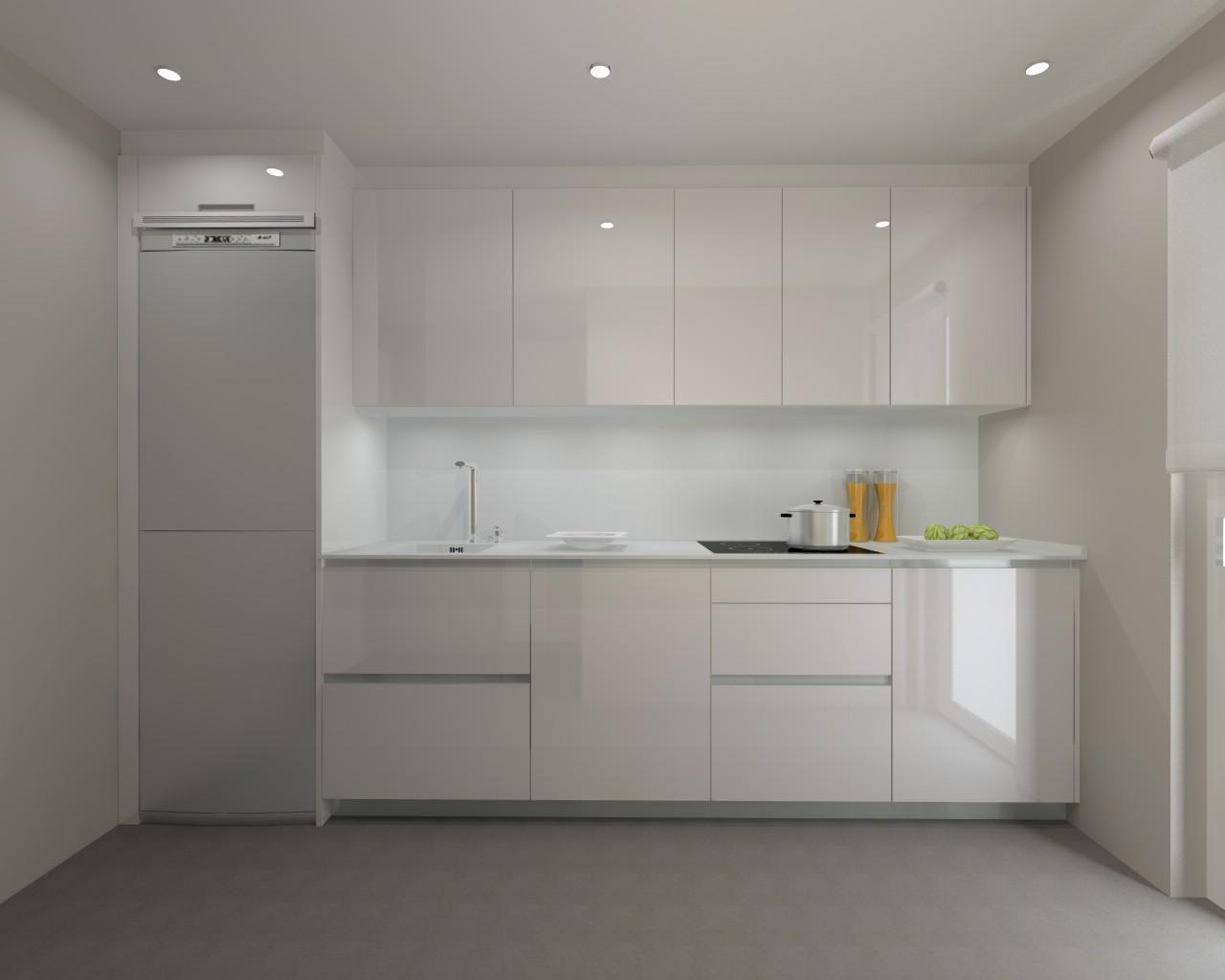 Madrid cocina santos modelo line l encimera for Encimera auxiliar cocina