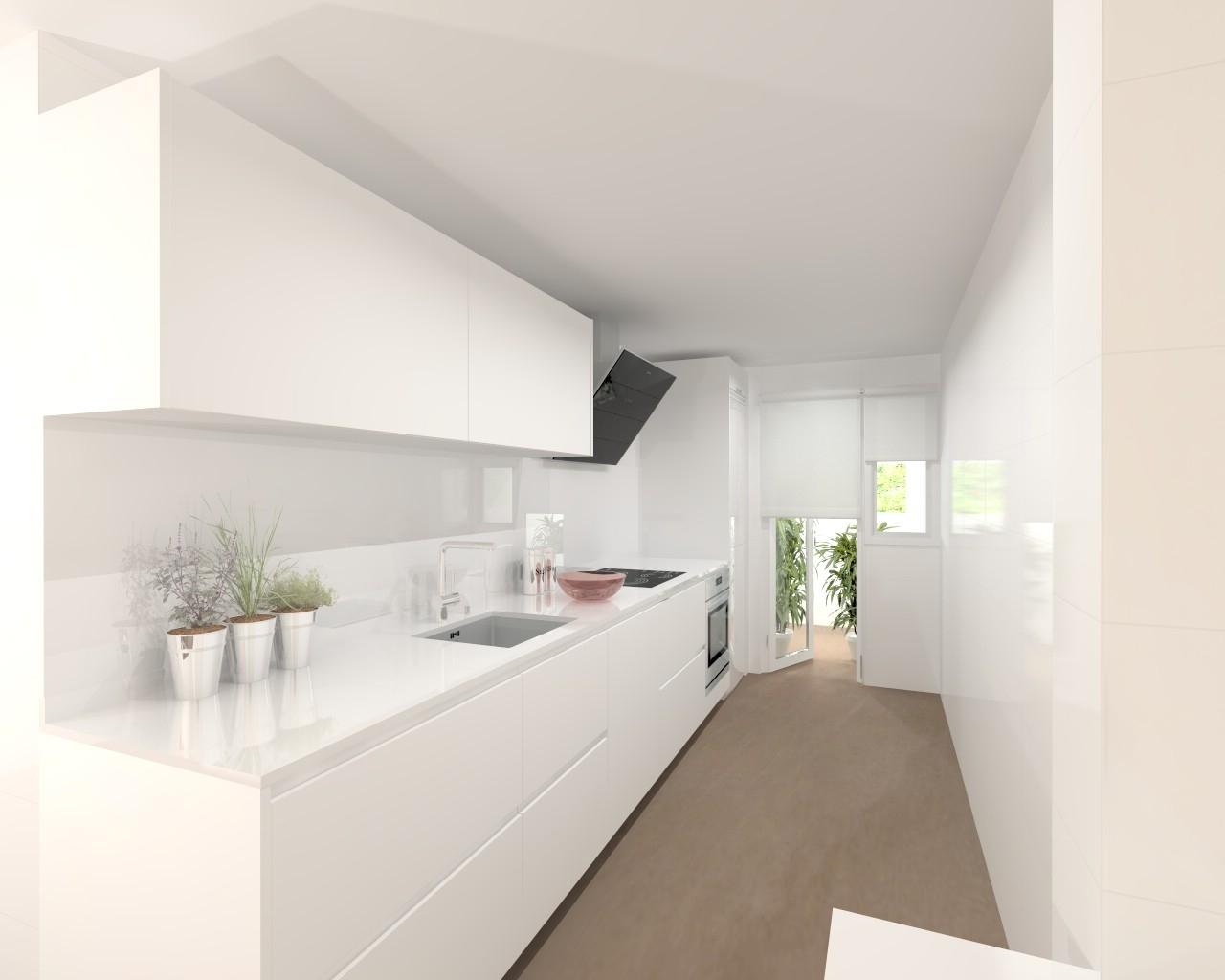 Proyectos de cocinas docrys cocinas for Cocinas angostas