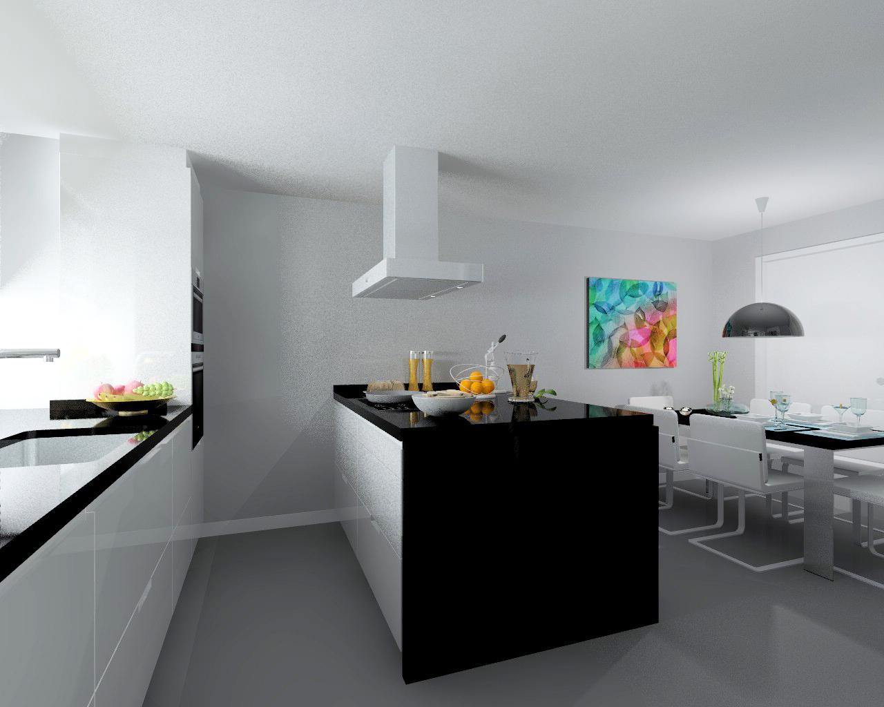 Madrid cocina santos modelo minos encimera granito for Encimera auxiliar cocina