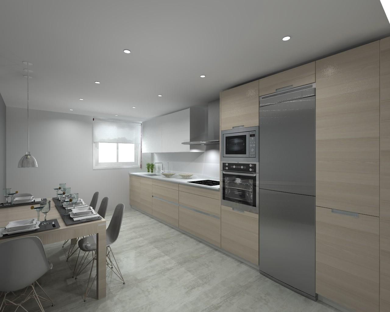 Proyectos de cocinas docrys cocinas Cocina 3 metros lineales