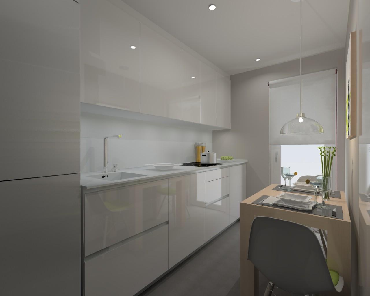 Madrid cocina santos modelo line l encimera for M s mobiliario auxiliar para tu cocina s l