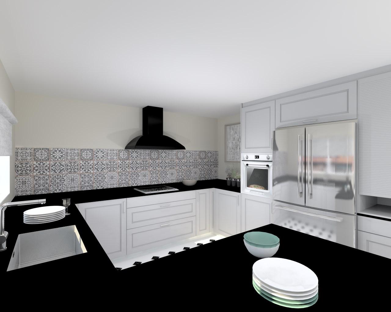 Proyectos de cocinas docrys cocinas for Encimera de granito gris