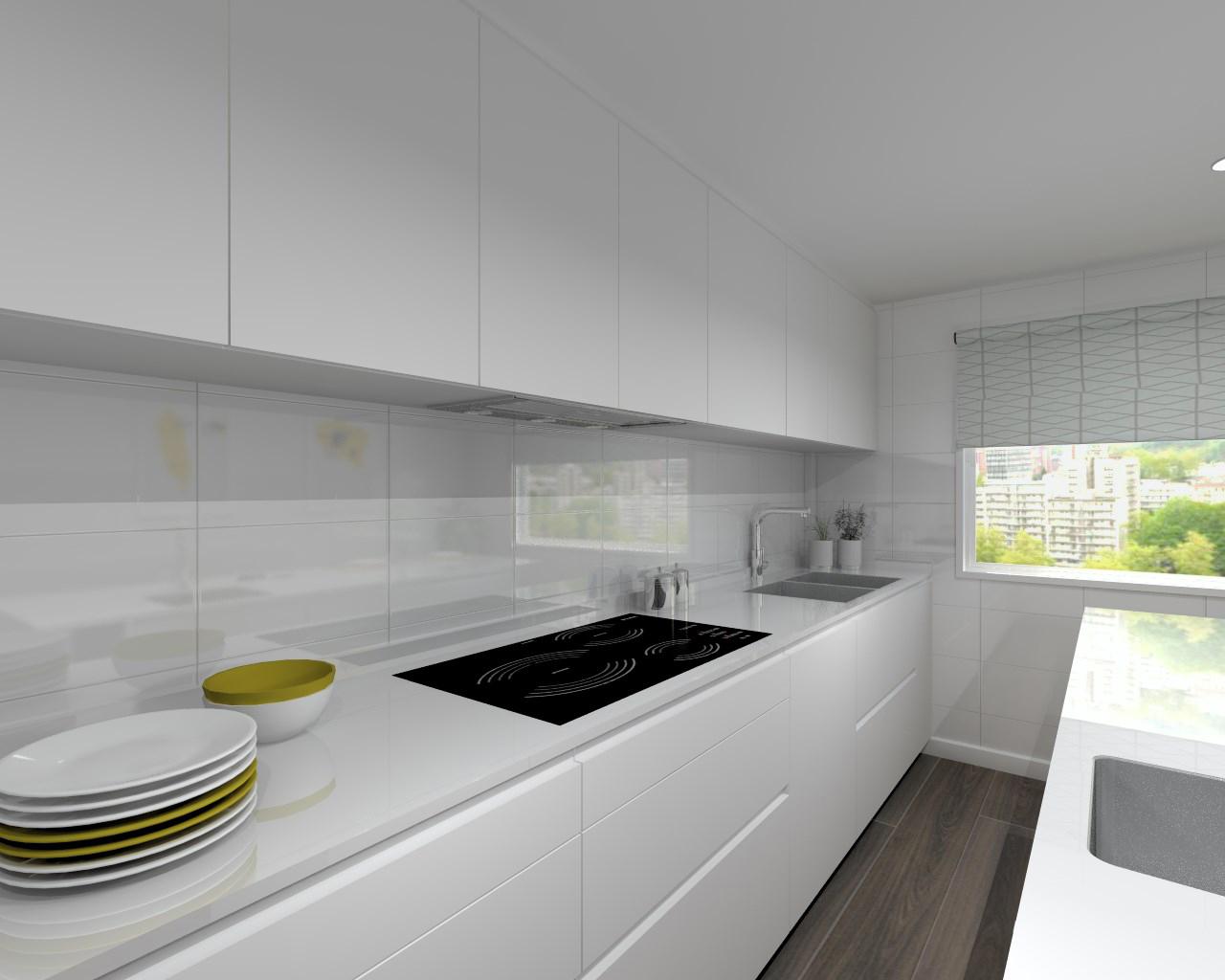 Proyectos de cocinas docrys cocinas for Encimera silestone