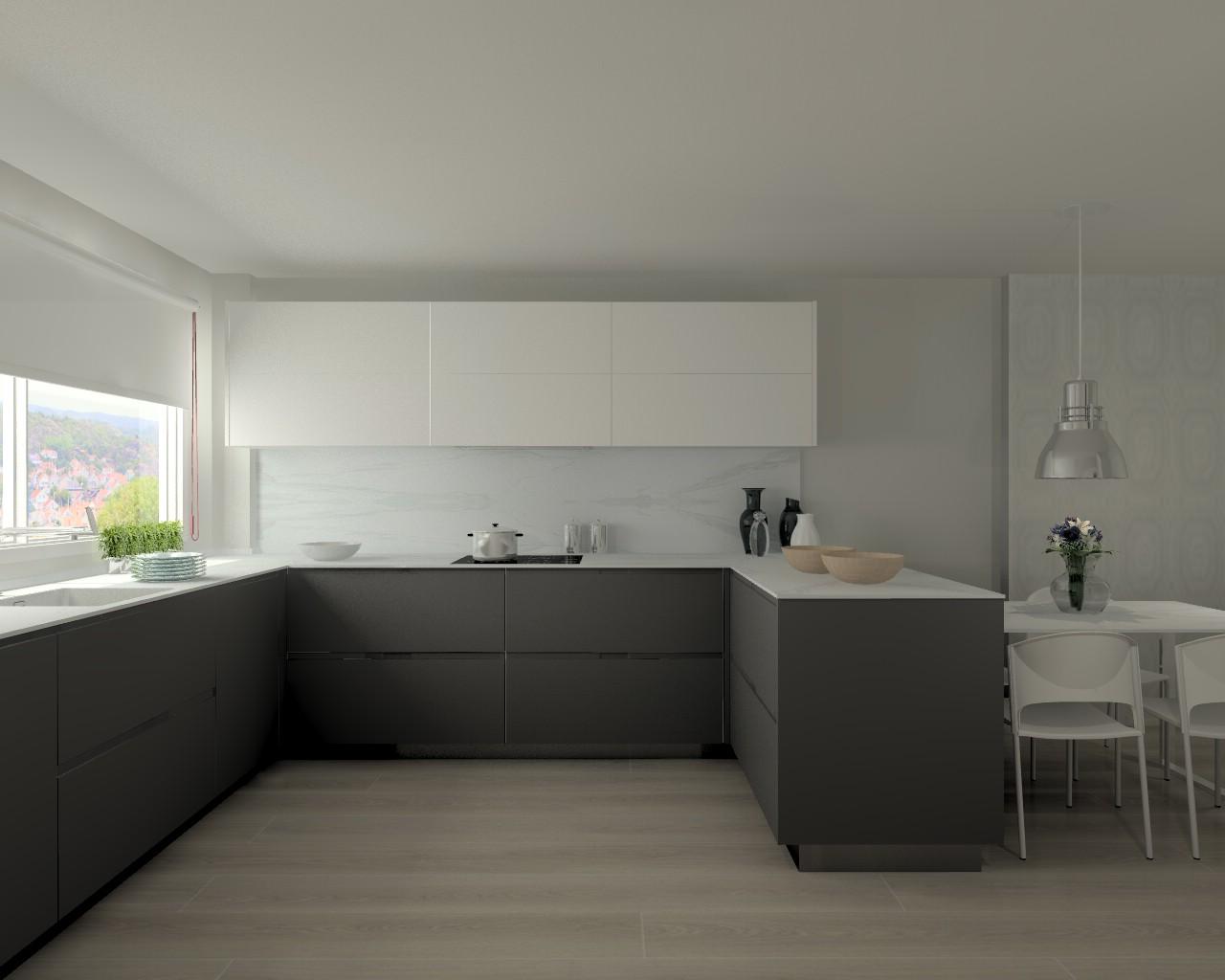 Proyectos de cocinas docrys cocinas for Cocina de madera antracita