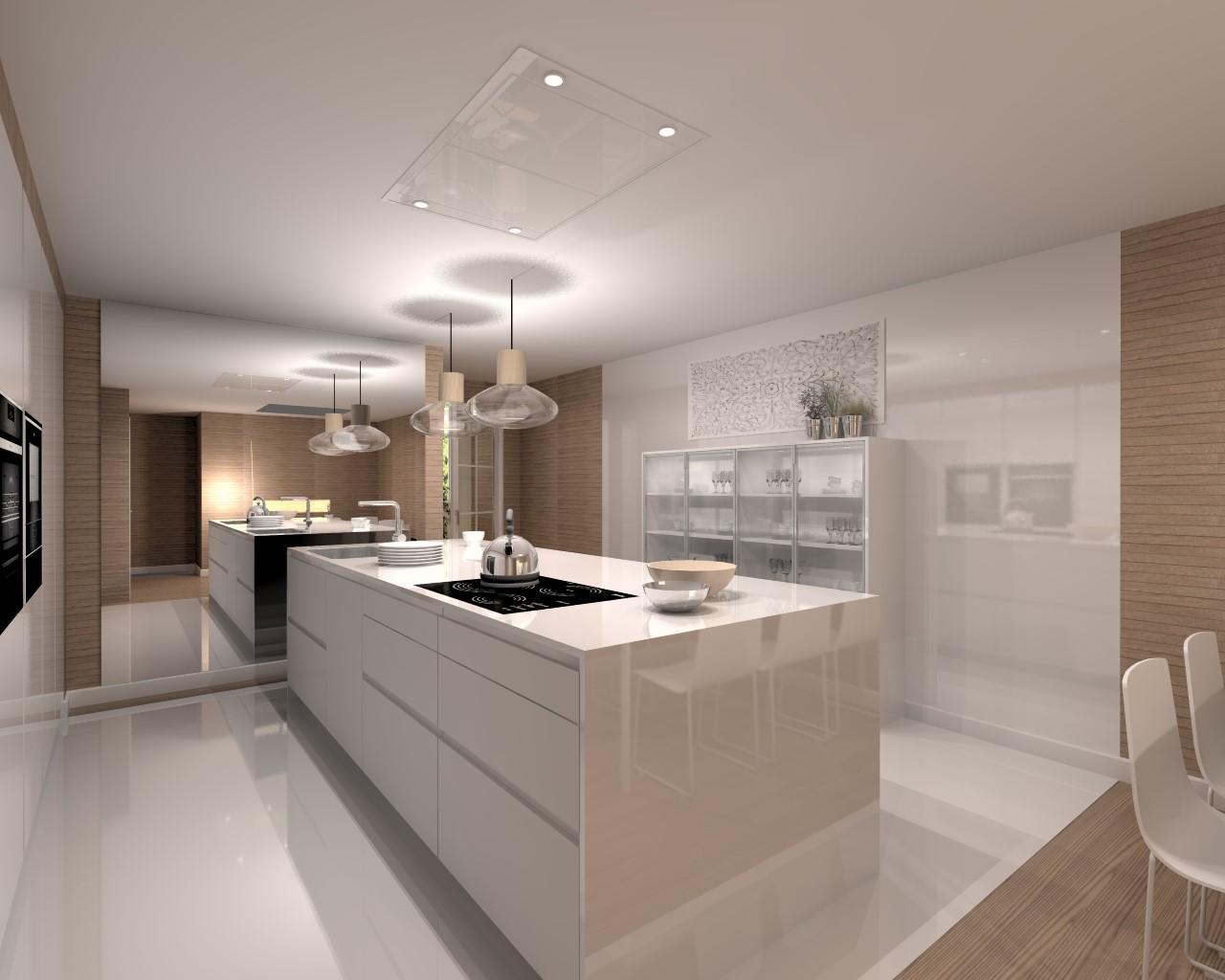 Proyectos de cocinas docrys cocinas - Encimera silestone blanco ...