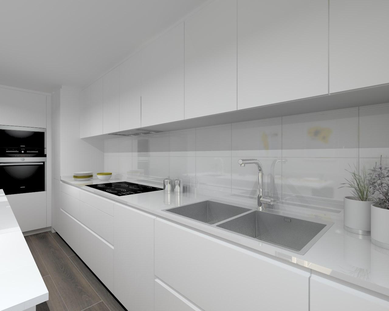Aravaca cocina santos modelo laminado blanco - Cocinas blancas pequenas ...