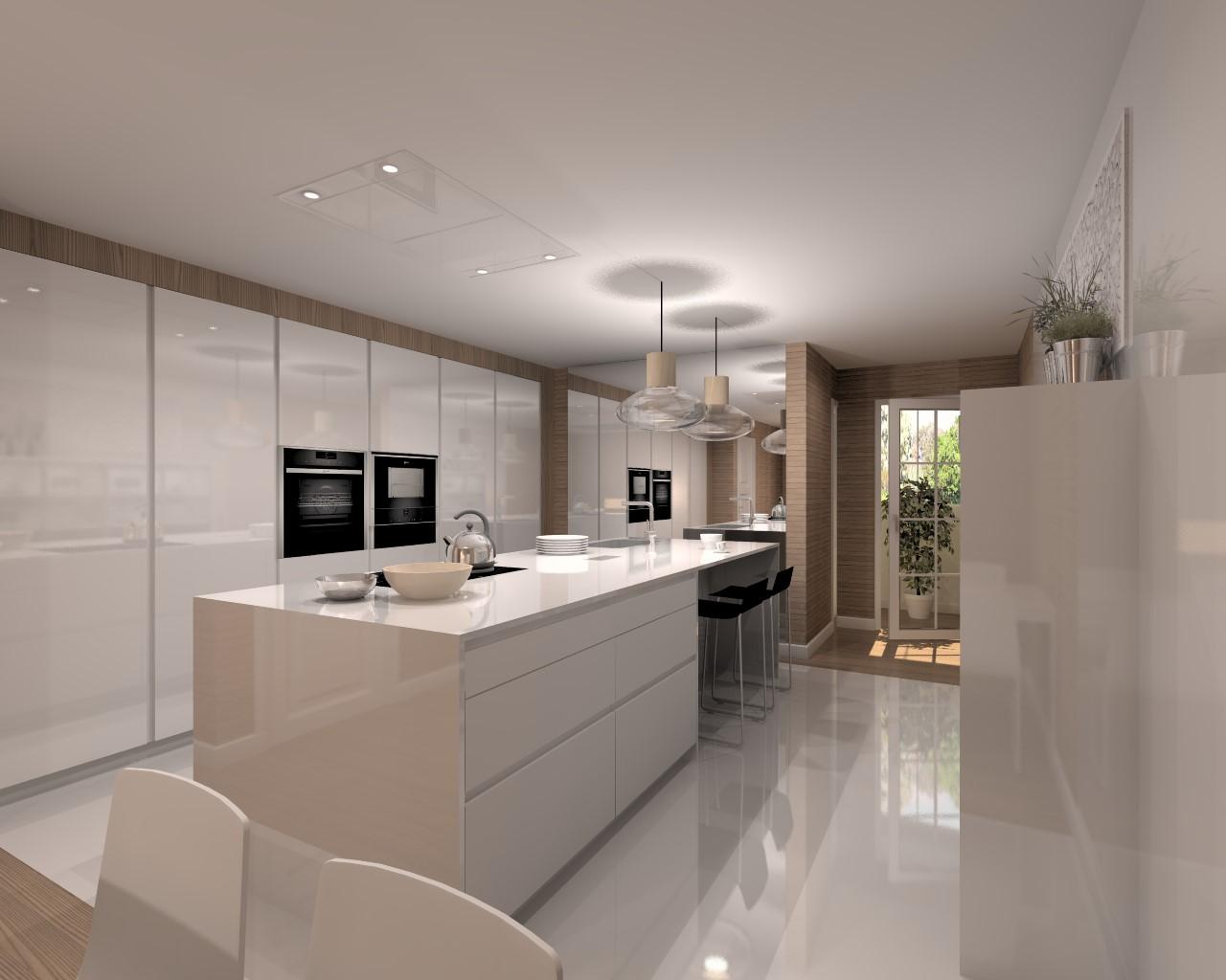 Proyectos de cocinas docrys cocinas for Azulejos cocina blanco brillo