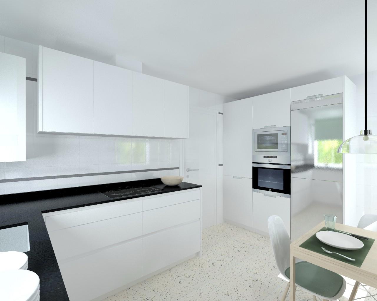 Madrid cocina santos modelo line l blanco seda mate - Docrys cocinas ...