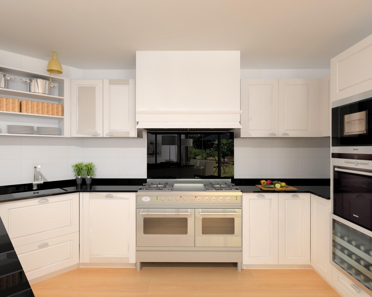 Madrid cocina santos modelo epoca encimera granito - Docrys cocinas ...