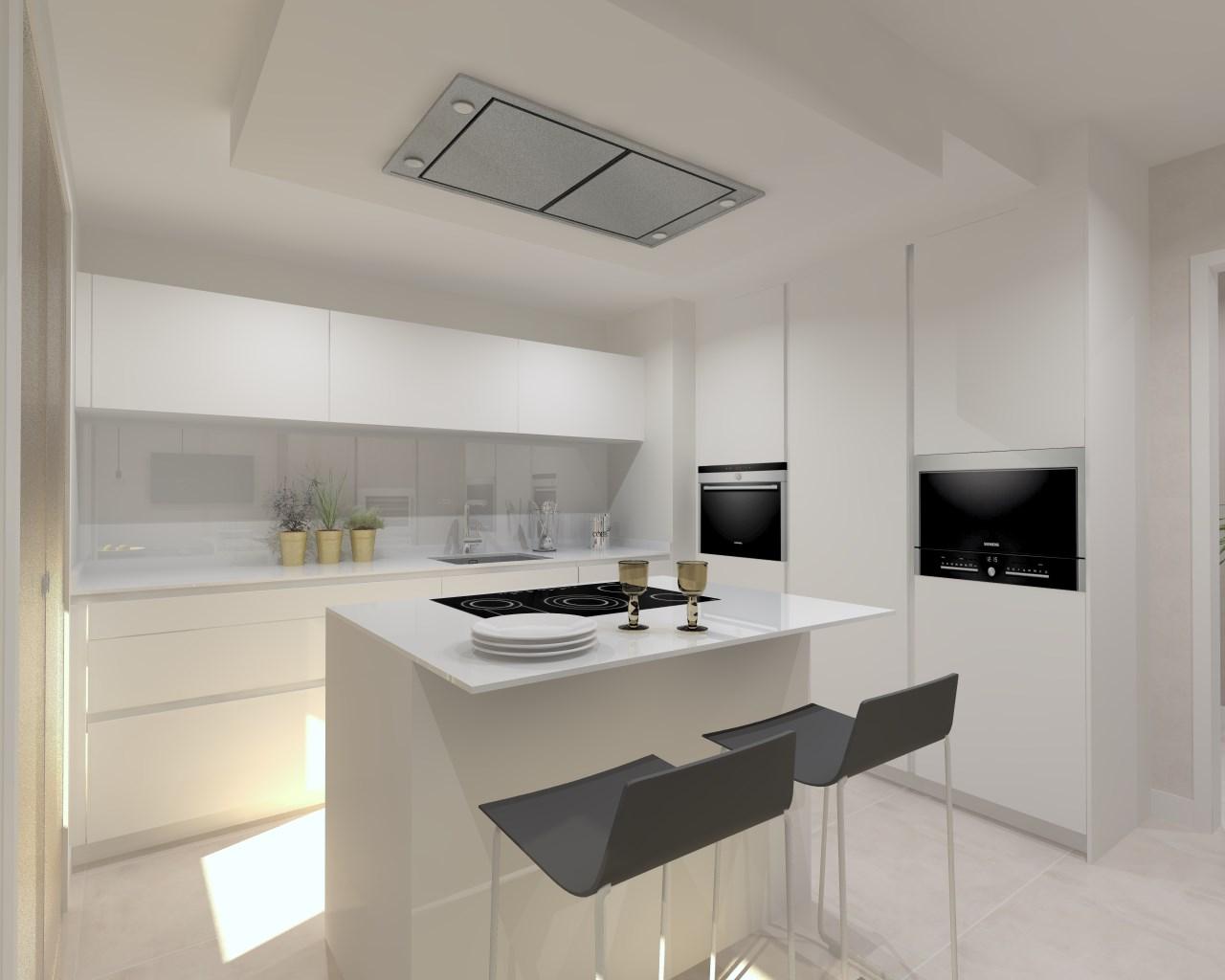 Docrys estudio de cocinas madrid muebles dise o y for Cocinas en color gris claro