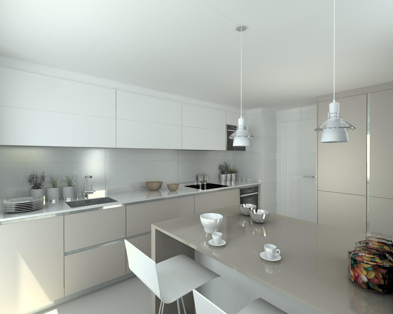 Docrys estudio de cocinas madrid muebles dise o y for Color credence cocina blanca