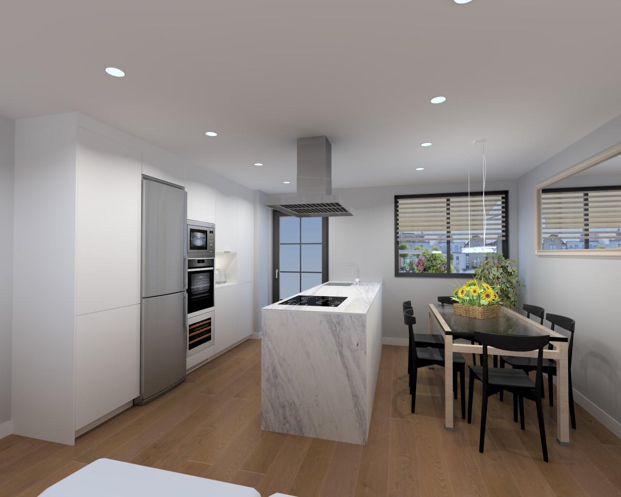 Proyecto de cocina cl sica con muebles santos docrys cocinas for Proyectos de cocina easy