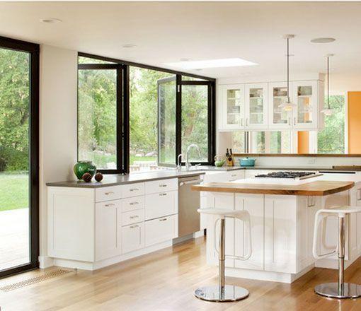 Cocinas abiertas al exterior docrys cocinas Cocinas prefabricadas