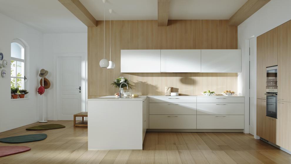 Suelos para cocinas blancas | Docrys Cocinas
