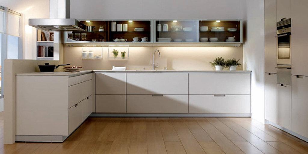 Como elegir la iluminaci n perfecta para tu cocina - Cocinas con azulejos beige ...