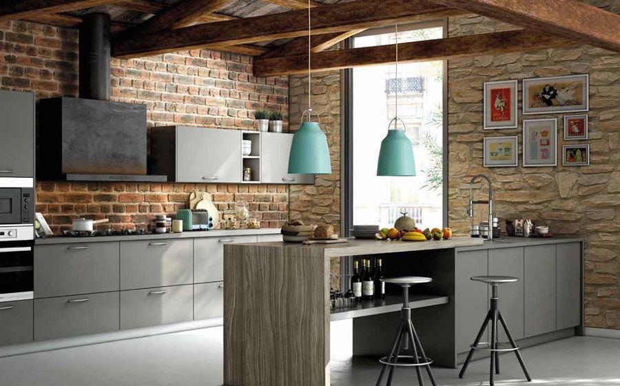 Cocinas con pared de ladrillo visto docrys cocinas - Pared de ladrillo visto ...