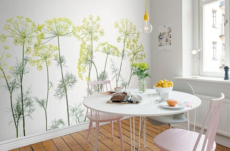 Papeles pintados en las cocinas docrys cocinas - Papeles pintados lavables ...