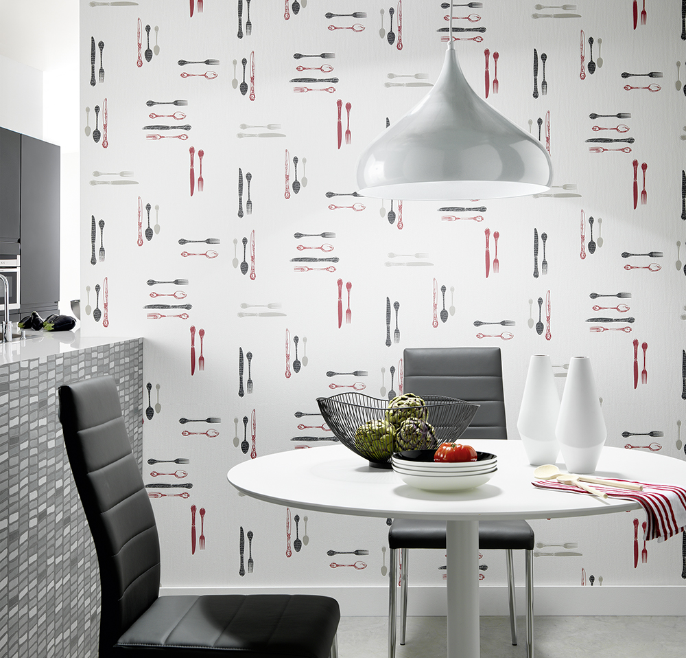 Papeles pintados en las cocinas docrys cocinas - Papel para paredes de cocina ...