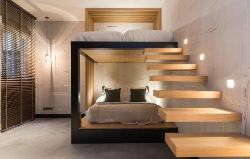 Dormitorio diseño industrial