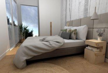 Un dormitorio muy especial en tonos cálidos