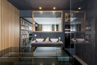 Diseño de dormitorio con baño integrado