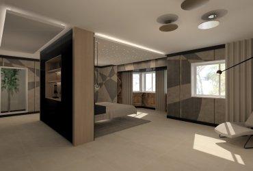 Dormitorio suite con baño y vestidor