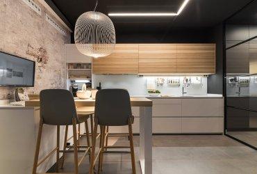 Diseños de cocinas modernas con acabados en madera natura