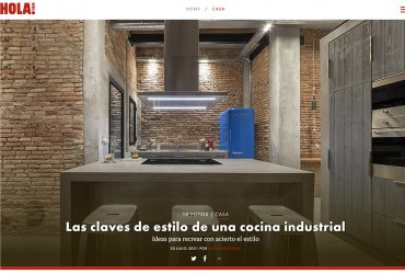 hola.com: Las claves de estilo de una cocina industrial