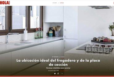 Hola.com: La ubicación ideal del fregadero y de la placa de cocción