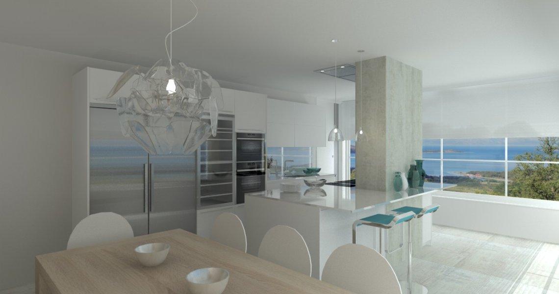 Madrid cocina santos modelo line e blanco encimera silestone blanco zeus docrys cocinas - Encimeras silestone madrid ...
