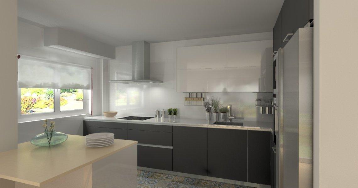 Madrid cocina santos modelo line e gris y line l blanco encimera silestone blanco docrys - Encimeras silestone madrid ...