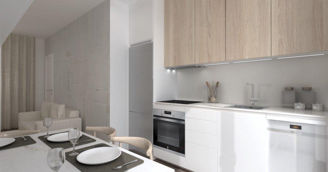 Cocina Santos Pequeña Moderna