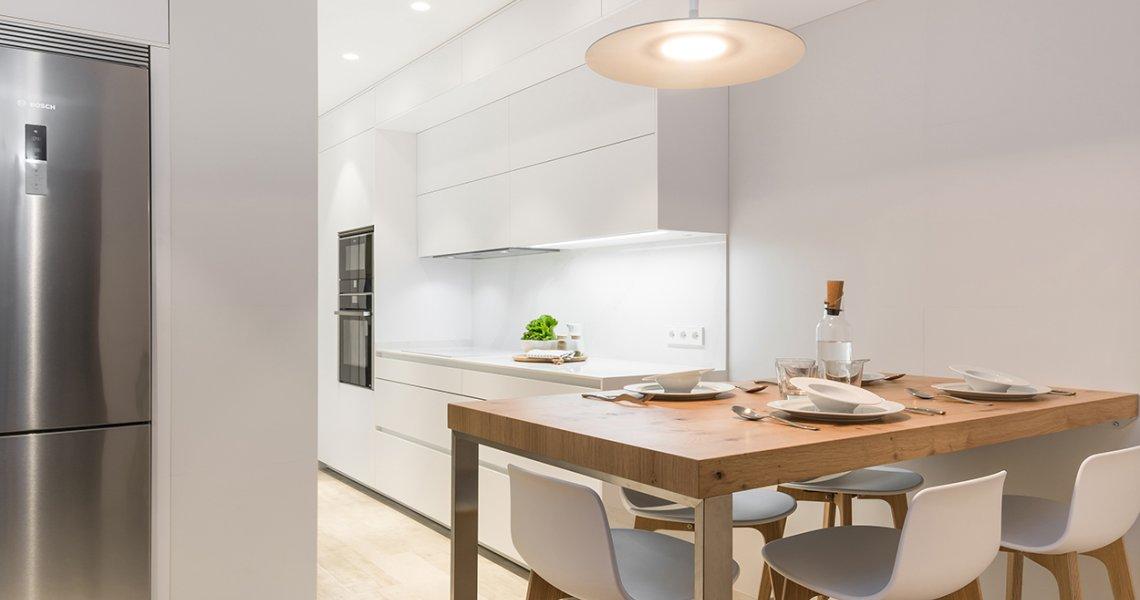 Cocina Blanca en Paralelo de Santos Cocinas