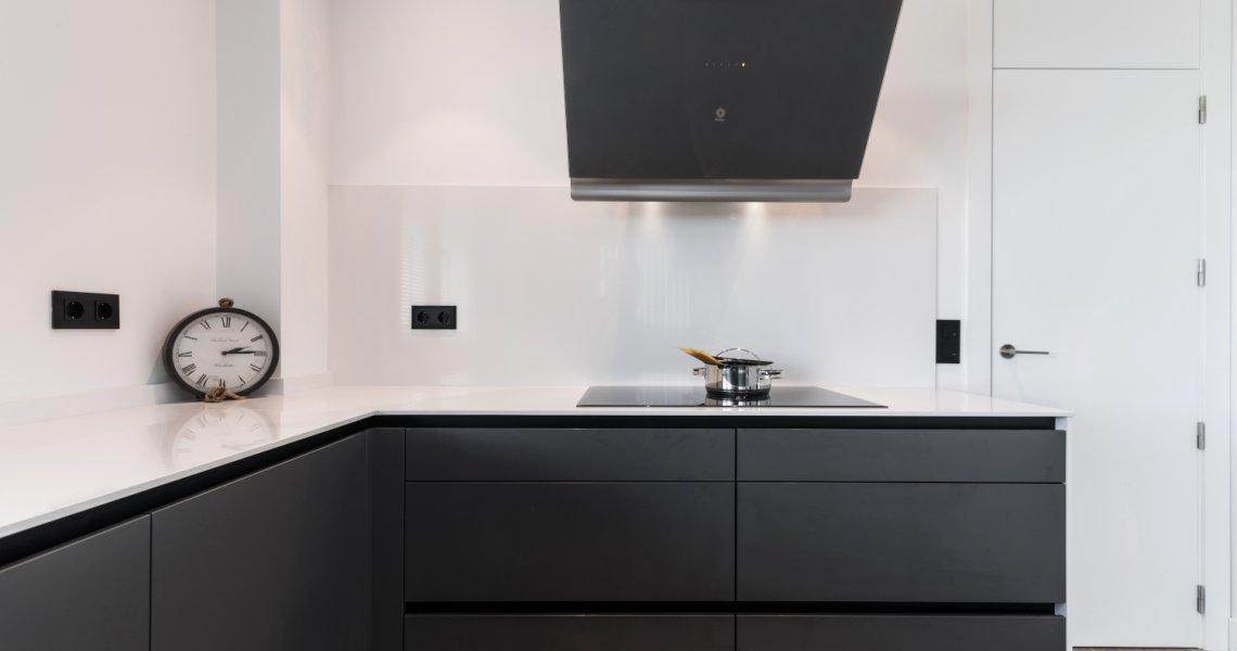 Cocina Santos muebles bajos gris