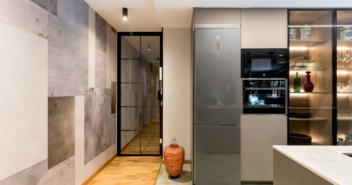 Cocina Santos gris con electrodomésticos Neff