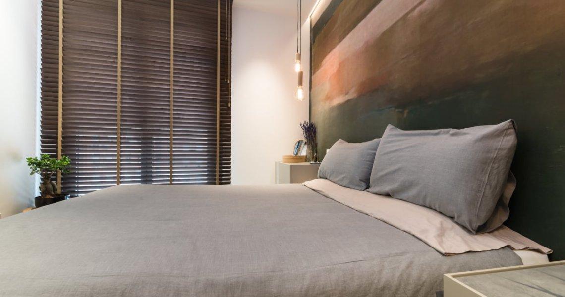 Diseño dormitorio principal cama Emede