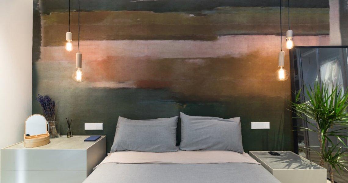 Diseño dormitorio principal papel Glamora